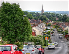 Looking down Millfield Road, across Bromsgrove (alanhitchcock49) Tags: 2016 walks bromsgrove 19 june worcestershire just walking in nature hdr st johns church millfield road across