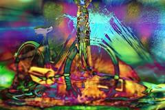 Luxating Conveyance (JangoFeldman) Tags: bicycle photomanipulation photoshop effects melting colorful surrealism surreal textures layered crazygeniuses picmonkey