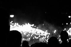 Fuegos y luces (juangrazz) Tags: party white black blanco fire lights luces fiesta negro fuego firecrackers petardos monocromtico