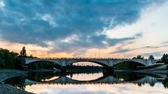 Chiswick Bridge (JB_1984) Tags: uk bridge sunset england cloud reflection london water thames river twilight unitedkingdom dusk lowtide riverbank riverthames mortlake chiswickbridge thamesbank londonboroughofrichmonduponthames