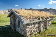 Sod House (kevin-palmer) Tags: crawford nebraska nikond750 oglalanationalgrassland greatplains evening summer june hot sunny blue sky clear toadstool toadstoolgeologicalpark clouds old sodhouse tamron2470mmf28 circularpolarizer badlands