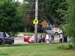 Accident On Burton @ Cambridge (PPWIII) Tags: grandrapids burton police grpd grfd accident fire department jeep immaculateheart ihm catholic church cambridge