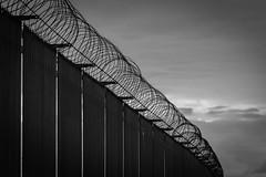 No Escape. (ian.emerson36) Tags: canon fence blackwhite barbed