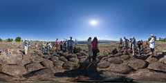 Mars Scientists Enjoying Earth (Garret Veley) Tags: panorama mars columbiariver sphere wa washingtonstate stitched buckwheat 360x180 sagebrush basalt ptgui equirectangular camerateam ancientlake canon1740mm potholescoulee canon5dmk2 topazdenoise garretveley lakewanapum promotecontrol glaciallakefloods