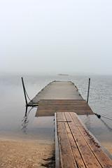 A Summer's day Stithians Reservoir (Shockin Goblin) Tags: summer mist lake water grey cornwall outdoor jetty overcast reservoir mooring bleak dull pontoon stithians