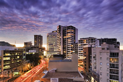 Suburbial (LMortgages158) Tags: city windows sunset streets st architecture modern clouds skyscraper buildings real lights construction estate realestate traffic towers sydney illumination australia blurred boom business growth nsw suburb cbd roads residential development offices stleonards mortgage leonards