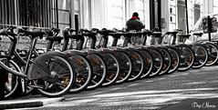 des vlos bien aligns - well aligned bikes (png nexus) Tags: red bike rouge desaturation rue sreet vlo