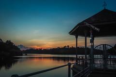 Sundown (elenaleong) Tags: reflections pier singapore sundown silhouettes reservoir naturereserve macritchiereservoirpark elenaleong