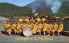 Wrangell High School Pep Band, Alaska (SwellMap) Tags: architecture vintage advertising design pc 60s fifties postcard suburbia style kitsch retro nostalgia chrome americana 50s roadside googie populuxe sixties babyboomer consumer coldwar midcentury spaceage atomicage