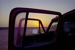 Zekreet Sunrise Through Burbie Windows (Doha Sam) Tags: family camping friends film sunrise 35mm dawn nikon desert kodak iso400 scan negative 400 analogue wilderness fe portra coolscan qatar c41 portra400 nikonscan zekreet colorneg coolscan9000ed newportra colorperfect samagnew smashandgrabphotocom linearscan wwwsamagnewcom piccure