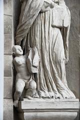 Untitled (S. Hemiolia) Tags: reggioemilia chiostridisanpietro statua statue details chiostro manualfocus zeiss d700 contaxyashica vintagelens cy vintagelenses