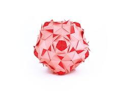 Naiad (masha_losk) Tags: paper origami squares symmetry foliage folded paperfolding modularorigami kusudama unitorigami оригами кусудама бумага origamiart модульноеоригами origamiwork