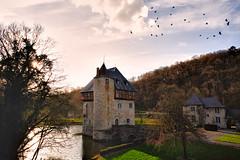 Crupet Castle  ~ Chteau de Crupet  [Donjon Carondelet] (SergeK ) Tags: sunset landscape belgium belgique cloudy explore paysage difice chteau carondelet charme wallon donjon crupet sergek europe2013europesergek
