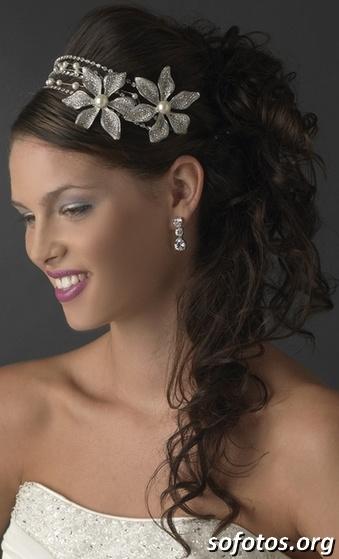 Penteados noiva com tiara
