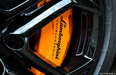 Aventador Brake Caliper (JayRao) Tags: orange black paris france ceramic nikon may brake carbon lamborghini jayr caliper 2013 aventador d3100 lp700