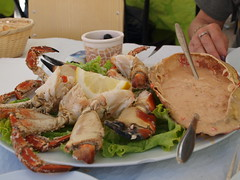 Lunch @ Nazar (before) (rgrant_97) Tags: food fish portugal peixe seafood marisco adega oceano nazar