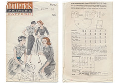 Butterick-6740-Interchangeable-Separates (kittymeow84) Tags: vintage pattern fifties dress top sewing skirt retro blouse 1940s 1950s custom forties garment kittysdrawings