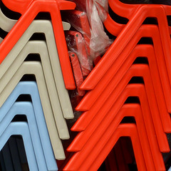 chair stack (pho-Tony) Tags: colour detail square pattern 365square