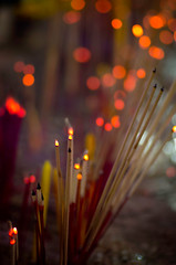 incense (schossow 9691) Tags: night thailand temple pentax bangkok burning incense k5