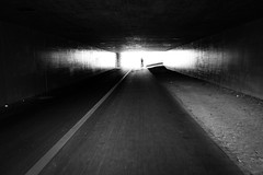 at the end of the tunnel (nicolasheinzelmann) Tags: light digital schweiz switzerland licht flickr bahnhof aarau mai ag sw mann schwarzweiss schatten aargau unterfhrung rx100 kompaktkamera endedestunnels nicolasheinzelmann sonyrx100 sonydscrx100 20mai2013