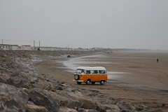 Hippy holiday (happyforest91) Tags: holiday beach yellow sand campervan hippyvan britishweather