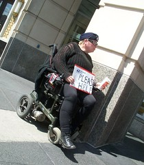 (mestes76) Tags: people boston massachusetts strangers begging wheelchairs pleasehelp 051312 inappropriateuseofuspssupplies