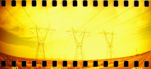 county arizona 3 tower film yellow electric analog 35mm landscape three lomo xpro lomography xprocess flickr power desert crossprocess wide az line powerline extra sprockets maricopa newflickr sprocketrocket