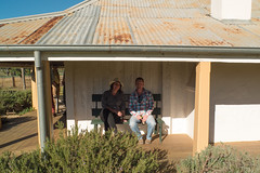 Relaxing on the veranda (Analog Photos) Tags: out day jazz australia nsw homestead dubbo
