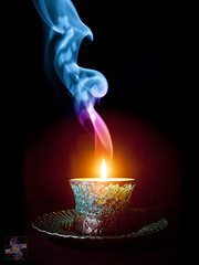 Candle in the Wind (Smoke Art #674) (Psycho_Babble) Tags: abstract candle smoke incense digitalmanipulation candleinthewind smokeart smokephotography smokephoto smokemanipulation creativesmoke