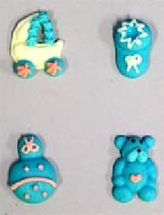 Blue Baby accessories 3cm (sweetinspirationsaustralia) Tags: cupcaketoppers