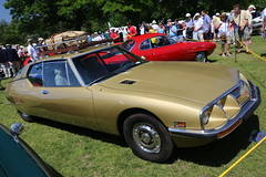 US spec Citroën SM (vetaturfumare - thanks for 3 MILLION views!!!) Tags: bronze 1971 greenwich citroen lawn sm citroën maserati concoursdelegance sealedbeam federalized usspec