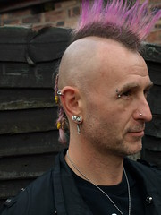 Jamie - three-quarter profile (DizDiz) Tags: portrait piercings chesterton staffordshire plaits mohicanhair