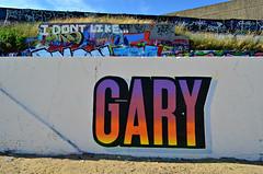 GARY (Di's Free Range Fotos) Tags: uk england black rock graffiti brighton artillery gary msk ha heavy