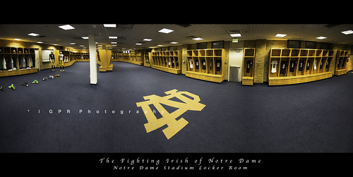 Notre Dame Football Locker Room Panorama