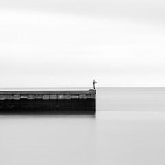 (morozgrafix) Tags: california blackandwhite bw water square waterfront unitedstates brisbane squareformat weldingglass nikond7000 nikon70200mmf28gvrii
