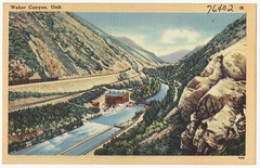 Weber Canyon, Utah (Boston Public Library) Tags: utah postcards valleys tichnorbrothers