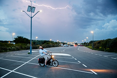 (Peter de Krom) Tags: jason parking lightning moped hvh tomos