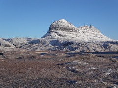 Suilven in December taken from above the Kirkaig falls