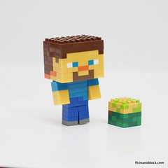 nanoblock Minecraft Steve (inanoblock) Tags: game toy bricks steve diamond instructions blocks block build console tico nanoblock ナノブロック minecraft nanoblocks