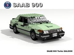 SAAB 900 Turbo Saloon (lego911) Tags: auto classic car sedan model lego sweden render turbo 1980s saloon 70 saab challenge 900 redemption cad scania lugnuts povray moc redo ldd miniland lego911 redoandredemption