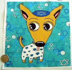 Happy Chihuanukkah! (sassyone2013) Tags: chihuahua david art dogs star holidays sewing chanukah fabric chihuahuas indie quilting jewish designs judaism yarmulke hanukkah judaic spoonflower yiddishe