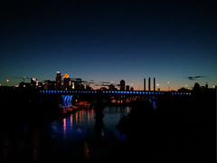 New Mississippi River Bridge - Night (schandle) Tags: minnesota skyline night minneapolis mississippiriver