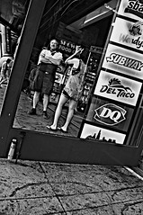 Framed  !!!!!!!! (imagejoe) Tags: street vegas people blackandwhite reflection nikon shadows lasvegas nevada strip thestrip