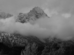 Grand Teton NP on a Stormy Day black and white (14) (moelynphotos) Tags: blackandwhite storm mountains nature landscape scenery explore wyoming tetons nationalparks grandtetonnationalpark stormyday moelynphotos