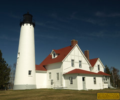 Point Iroquois Lighthouse (daveumich) Tags: lighthouse michigan greatlakes upperpeninsula lakesuperior michiganhistory pointiroquoislighthouse