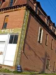 Stephens Hotel, Phillipsburg, MT (Robby Virus) Tags: brick abandoned sign architecture hotel montana closed empty ghost masonry gables stephens phillipsburg dormers