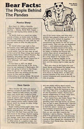 "A DISTANT SOIL # 9 :: ""BEAR FACTS: The People Behind the Pandas"" i (( 1986 ))"