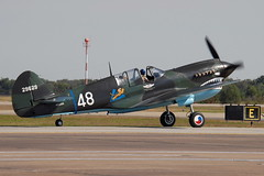 N1226N P-40N Warhawk (eigjb) Tags: usa field airplane wings october fighter texas aircraft aviation over attack houston airshow ww2 woh curtiss ellington p40 warhawk p40n 2013 kefd n1226n