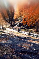 CentralParkFall_010 (repponen) Tags: newyork blur fall centralpark manhattan effect vaseline canon5dmarkiii canonfl50mm