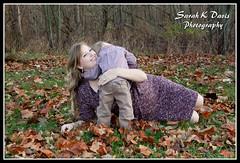 Krysta & Corbin (sarahkathleendavis) Tags: november autumn boy portrait woman fall leaves mom outside outdoors hug toddler child mother pregnancy son pregnant maternity 2013